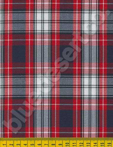Plaid Fabric School Uniform Plaid Fabric 610 4601 5